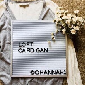 NWOT Soft Loft two-toned cardigan
